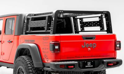 ZROADZ                                             - 2019-2020 Jeep Gladiator Access Overland Rack With Two Lifting Side Gates, Without Trail Rail Cargo System - PN #Z834101 - Image 3