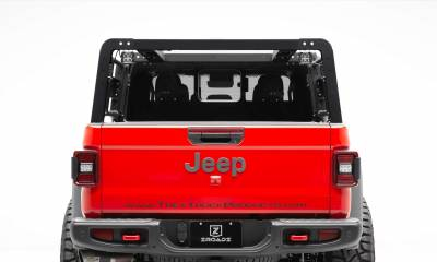 ZROADZ                                             - 2019-2020 Jeep Gladiator Overland Access Rack With Side Gates, Incl. (4) 3 Inch ZROADZ LED Pod Lights - PN #Z834101 - Image 4