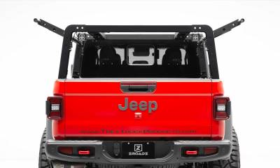 ZROADZ                                             - 2019-2020 Jeep Gladiator Overland Access Rack With Side Gates, Incl. (4) 3 Inch ZROADZ LED Pod Lights - PN #Z834101 - Image 5