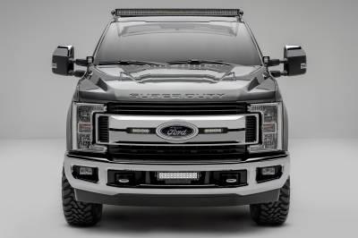 ZROADZ                                             - 2017-2019 Ford Super Duty Hood Hinge LED Kit with (2) 3 Inch Amber LED Pod Lights - PN #Z365471-KIT2A - Image 13