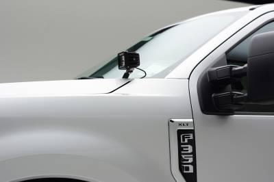 ZROADZ                                             - 2017-2019 Ford Super Duty Hood Hinge LED Kit with (2) 3 Inch Amber LED Pod Lights - PN #Z365471-KIT2A - Image 10