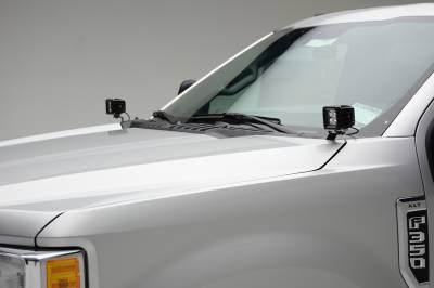 ZROADZ                                             - 2017-2019 Ford Super Duty Hood Hinge LED Kit with (2) 3 Inch Amber LED Pod Lights - PN #Z365471-KIT2A - Image 9