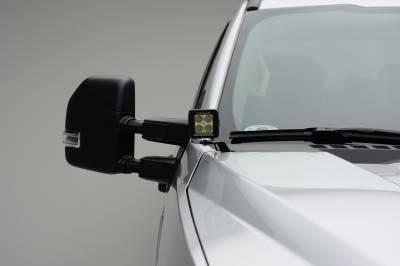ZROADZ                                             - 2017-2019 Ford Super Duty Hood Hinge LED Kit with (2) 3 Inch Amber LED Pod Lights - PN #Z365471-KIT2A - Image 8