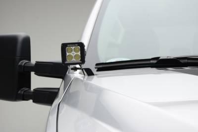 ZROADZ                                             - 2017-2019 Ford Super Duty Hood Hinge LED Kit with (2) 3 Inch Amber LED Pod Lights - PN #Z365471-KIT2A - Image 7