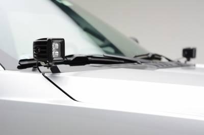 ZROADZ                                             - 2017-2019 Ford Super Duty Hood Hinge LED Kit with (2) 3 Inch Amber LED Pod Lights - PN #Z365471-KIT2A - Image 6