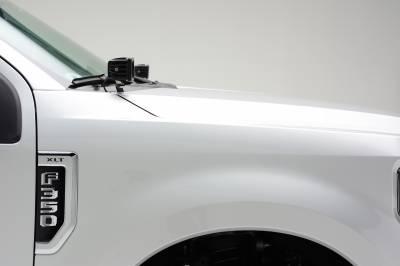ZROADZ                                             - 2017-2019 Ford Super Duty Hood Hinge LED Kit with (2) 3 Inch Amber LED Pod Lights - PN #Z365471-KIT2A - Image 4