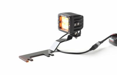 ZROADZ                                             - 2017-2019 Ford Super Duty Hood Hinge LED Kit with (2) 3 Inch Amber LED Pod Lights - PN #Z365471-KIT2A - Image 16