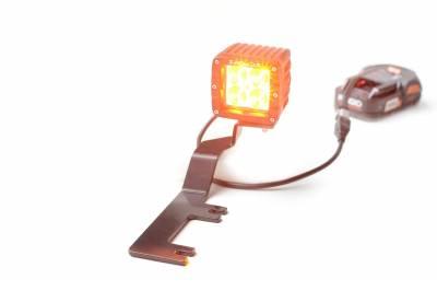 ZROADZ                                             - 2017-2019 Ford Super Duty Hood Hinge LED Kit with (2) 3 Inch Amber LED Pod Lights - PN #Z365471-KIT2A - Image 3