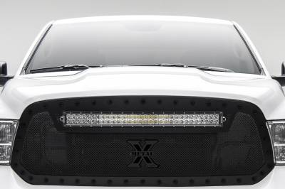"""T-REX GRILLES - 2013-2018 Ram 1500 Stealth Torch Grille, Black, 1 Pc, Replacement, Black Studs with (1) 30"""" LED - PN #6314551-BR - Image 3"""