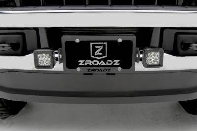 ZROADZ                                             - Universal License Plate Frame LED Bracket to mount (2) 3 Inch LED Pod Lights - PN #Z310005 - Image 1