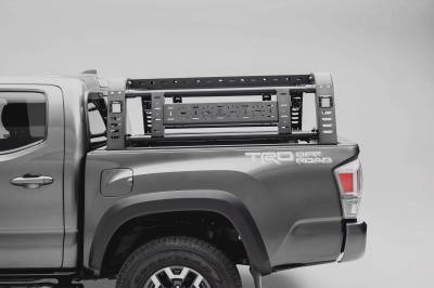 ZROADZ                                             - 2016-2021 Toyota Tacoma Overland Access Rack With Side Gates with (4) 3 Inch ZROADZ LED Pod Lights - PN #Z839101 - Image 4