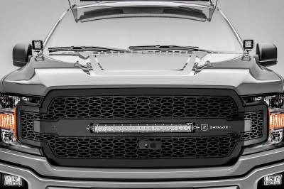 T-REX GRILLES - 2018-2020 F-150 ZROADZ Grille, Black, 1 Pc, Replacement with 20 Inch LED, Fits Vehicles with Camera - PN #Z315811 - Image 1