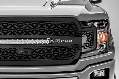T-REX GRILLES - 2018-2020 F-150 ZROADZ Grille, Black, 1 Pc, Replacement with 20 Inch LED, Fits Vehicles with Camera - PN #Z315811 - Image 4