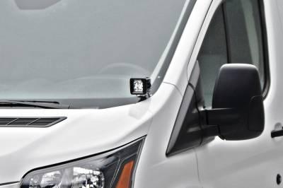 ZROADZ OFF ROAD PRODUCTS - 2015-2018 Ford Transit Hood Hinge LED Bracket to mount (2) 3 Inch LED Pod Lights - PN #Z365751 - Image 1