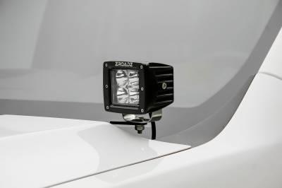 ZROADZ                                             - 2019-2021 GMC Sierra 1500 Hood Hinge LED Kit with (2) 3 Inch LED Pod Lights - PN# Z362281-KIT2 - Image 1