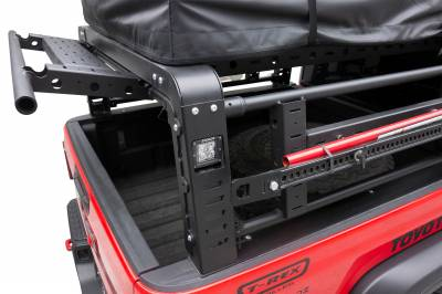 ZROADZ                                             - 2019-2021 Jeep Gladiator Access Overland Rack With Three Lifting Side Gates, For use on Factory Trail Rail Cargo Systems - PN #Z834211 - Image 15