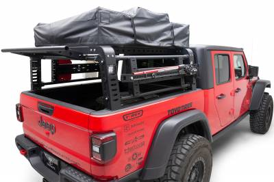 ZROADZ                                             - 2019-2021 Jeep Gladiator Access Overland Rack With Three Lifting Side Gates, For use on Factory Trail Rail Cargo Systems - PN #Z834211 - Image 13