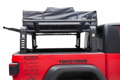 ZROADZ                                             - 2019-2021 Jeep Gladiator Access Overland Rack With Three Lifting Side Gates, For use on Factory Trail Rail Cargo Systems - PN #Z834211 - Image 11