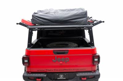 ZROADZ OFF ROAD PRODUCTS - 2019-2021 Jeep Gladiator Access Overland Rack With Three Lifting Side Gates, For use on Factory Trail Rail Cargo Systems - PN #Z834211 - Image 11