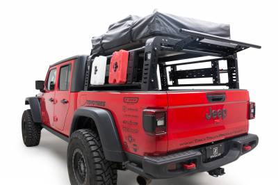 ZROADZ                                             - 2019-2021 Jeep Gladiator Access Overland Rack With Three Lifting Side Gates, For use on Factory Trail Rail Cargo Systems - PN #Z834211 - Image 4