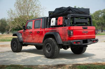 ZROADZ                                             - 2019-2021 Jeep Gladiator Access Overland Rack With Three Lifting Side Gates, For use on Factory Trail Rail Cargo Systems - PN #Z834211 - Image 17