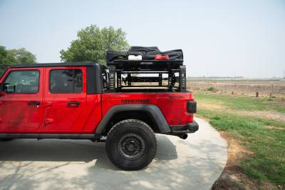 ZROADZ                                             - 2019-2021 Jeep Gladiator Access Overland Rack With Three Lifting Side Gates, For use on Factory Trail Rail Cargo Systems - PN #Z834211 - Image 19