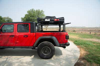 ZROADZ                                             - 2019-2021 Jeep Gladiator Access Overland Rack With Three Lifting Side Gates, For use on Factory Trail Rail Cargo Systems - PN #Z834211 - Image 20