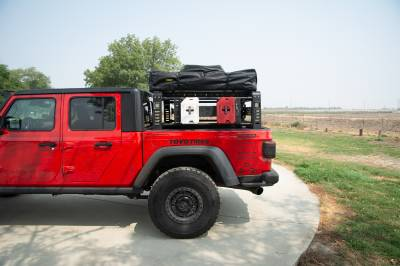 ZROADZ                                             - 2019-2021 Jeep Gladiator Access Overland Rack With Three Lifting Side Gates, For use on Factory Trail Rail Cargo Systems - PN #Z834211 - Image 21