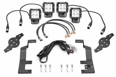 ZROADZ                                             - 2014-2018 Silverado, Sierra 1500 Hood Hinge LED Kit with (4) 3 Inch LED Pod Lights - PN #Z362081-KIT4 - Image 4