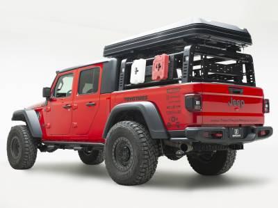 ZROADZ                                             - 2019-2021 Jeep Gladiator Access Overland Rack Crossbars, Black, Mild Steel, Bolt-On, 2 Pc Set with Hardware - PN #Z834011 - Image 12