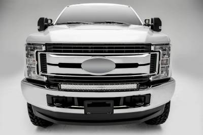 ZROADZ OFF ROAD PRODUCTS - 2017-2019 Ford Super Duty Front Bumper Top LED Bracket to mount (1) 30 Inch Curved LED Light Bar - PN #Z325472 - Image 4