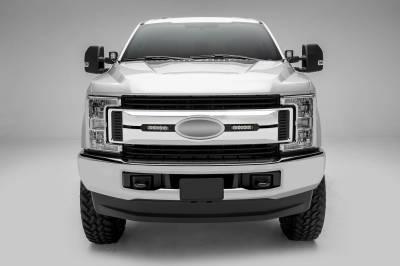 ZROADZ                                             - 2017-2019 Ford Super Duty XLT, XL STX OEM Grille LED Kit with (2) 6 Inch LED Straight Single Row Slim Light Bars, Black - PN #Z415571-KIT - Image 2