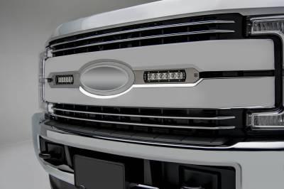 ZROADZ                                             - 2017-2019 Ford Super Duty Lariat, King Ranch OEM Grille LED Kit with (2) 6 Inch LED Straight Single Row Slim Light Bars - PN #Z415473-KIT - Image 1