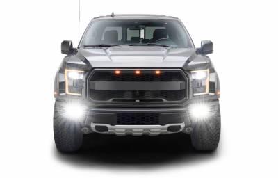 ZROADZ                                             - 2017-2021 Ford F-150 Raptor Front Bumper OEM Fog Amber LED Kit with (2) 3 Inch Amber LED Pod Lights and (4) 3 Inch LED Pod Lights- PN #Z325672-KIT - Image 14