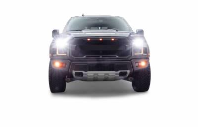 ZROADZ                                             - 2017-2021 Ford F-150 Raptor Front Bumper OEM Fog Amber LED Kit with (2) 3 Inch Amber LED Pod Lights and (4) 3 Inch LED Pod Lights- PN #Z325672-KIT - Image 18