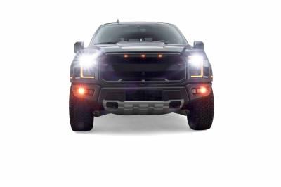 ZROADZ                                             - 2017-2021 Ford F-150 Raptor Front Bumper OEM Fog Amber LED Kit with (2) 3 Inch Amber LED Pod Lights and (4) 3 Inch LED Pod Lights- PN #Z325672-KIT - Image 19