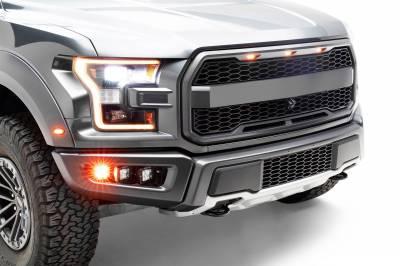 ZROADZ                                             - 2017-2021 Ford F-150 Raptor Front Bumper OEM Fog Amber LED Kit with (2) 3 Inch Amber LED Pod Lights and (4) 3 Inch LED Pod Lights- PN #Z325672-KIT - Image 7