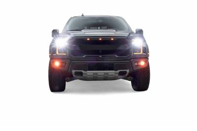 ZROADZ                                             - 2017-2021 Ford F-150 Raptor Front Bumper OEM Fog LED Bracket to mount (6) 3 Inch ZROADZ or similar style LED Pod Lights- PN #Z325672 - Image 17