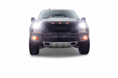 ZROADZ                                             - 2017-2021 Ford F-150 Raptor Front Bumper OEM Fog LED Bracket to mount (6) 3 Inch ZROADZ or similar style LED Pod Lights- PN #Z325672 - Image 16