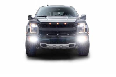 ZROADZ                                             - 2017-2021 Ford F-150 Raptor Front Bumper OEM Fog LED Bracket to mount (6) 3 Inch ZROADZ or similar style LED Pod Lights- PN #Z325672 - Image 15