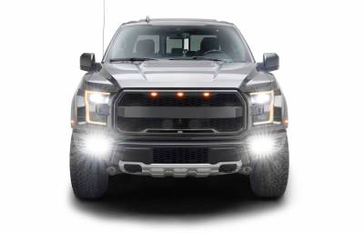 ZROADZ                                             - 2017-2021 Ford F-150 Raptor Front Bumper OEM Fog LED Bracket to mount (6) 3 Inch ZROADZ or similar style LED Pod Lights- PN #Z325672 - Image 12