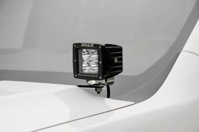 ZROADZ OFF ROAD PRODUCTS - 2007-2013 Silverado Sierra 1500 Hood Hinge LED Bracket to mount (2) 3 Inch LED Pod Lights - PN #Z362051 - Image 1