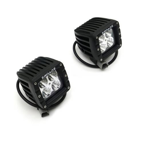ZROADZ                                             - 2019-2021 GMC Sierra 1500 Hood Hinge LED Kit with (2) 3 Inch LED Pod Lights - PN# Z362281-KIT2 - Image 8