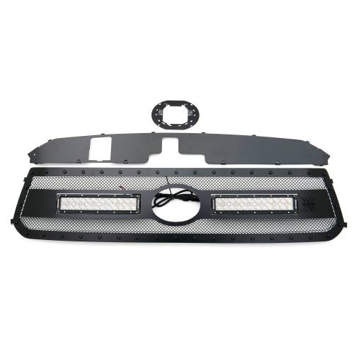 """T-REX GRILLES - 2018-2021 Tundra Stealth Torch Grille, Black, 1 Pc, Replacement, Black Studs with (2) 12"""" LEDs, Does Not Fit Vehicles with Camera - PN #6319661-BR - Image 4"""