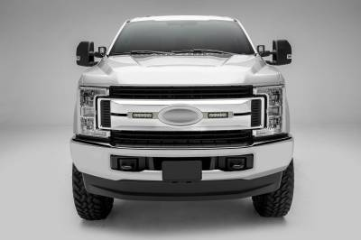 ZROADZ OFF ROAD PRODUCTS - 2017-2019 Ford Super Duty XLT, XL STX OEM Grille LED Kit with (2) 6 Inch LED Straight Single Row Slim Light Bars, Brushed - PN #Z415573-KIT - Image 2