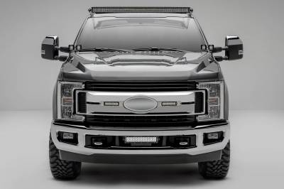 ZROADZ OFF ROAD PRODUCTS - 2017-2019 Ford Super Duty XLT, XL STX OEM Grille LED Kit with (2) 6 Inch LED Straight Single Row Slim Light Bars, Brushed - PN #Z415573-KIT - Image 1