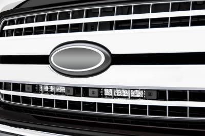 ZROADZ                                             - 2018-2020 Ford F-150 XLT, Lariat OEM Grille LED Kit with (2) 6 Inch LED Straight Single Row Slim Light Bars - PN #Z415711-KIT - Image 1