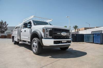 ZROADZ OFF ROAD PRODUCTS - 2017-2019 Ford Super Duty XL OEM Grille LED Kit with (2) 6 Inch LED Straight Single Row Slim Light Bars - PN #Z415771-KIT - Image 3