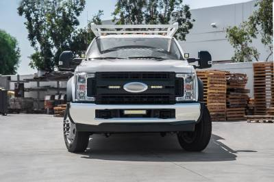 ZROADZ OFF ROAD PRODUCTS - 2017-2019 Ford Super Duty XL OEM Grille LED Kit with (2) 6 Inch LED Straight Single Row Slim Light Bars - PN #Z415771-KIT - Image 4