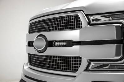 ZROADZ OFF ROAD PRODUCTS - 2018-2020 Ford F-150 Platinum OEM Grille LED Kit with (2) 6 Inch LED Straight Single Row Slim Light Bars, Black - PN# Z415581-KIT - Image 2